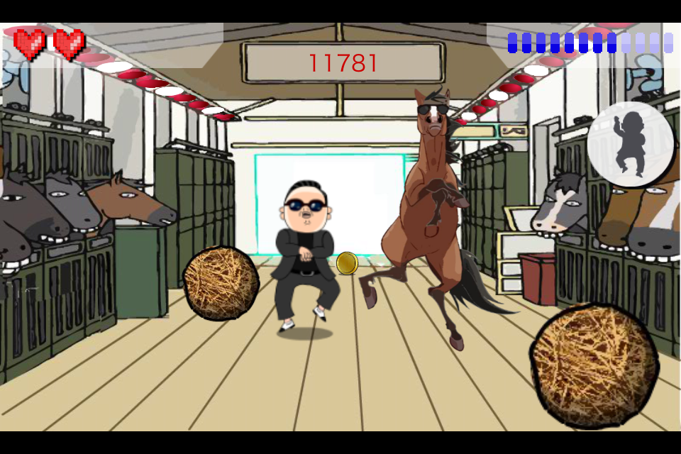 Screenshot Gangnam Style Tilt Game